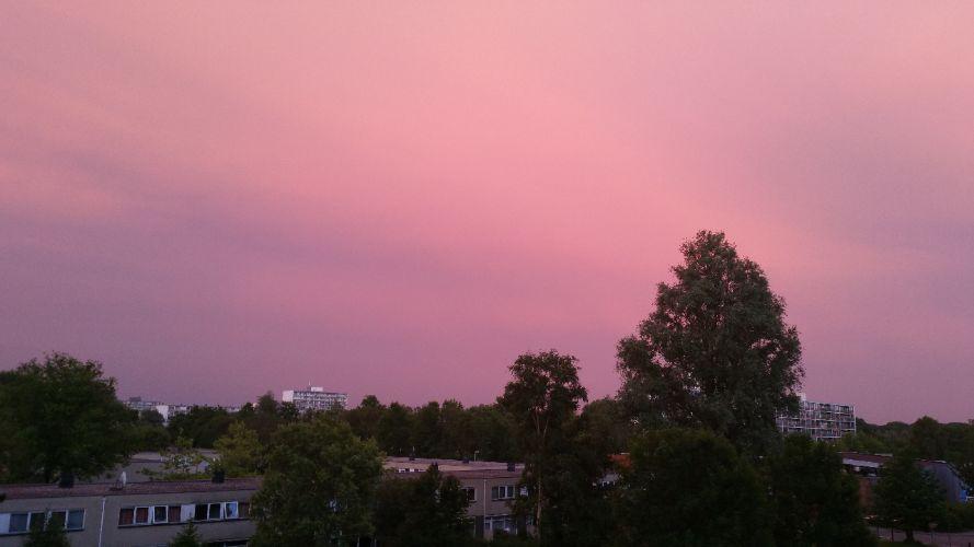 Maandoverzicht pink sky